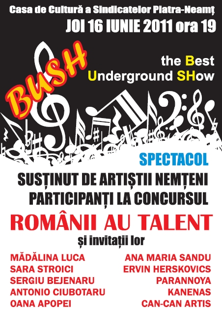 Afis The Best Underground Show - BUSH