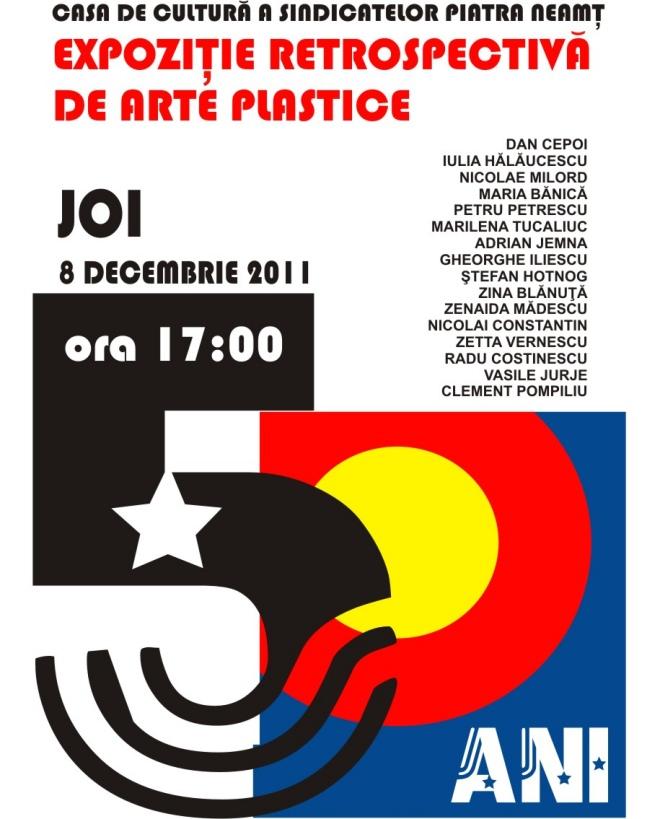 Afis Expozitie Retrospectiva de Arte Plastice