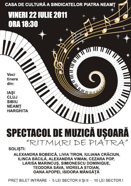 Afis Spectacol Muzica Usoara