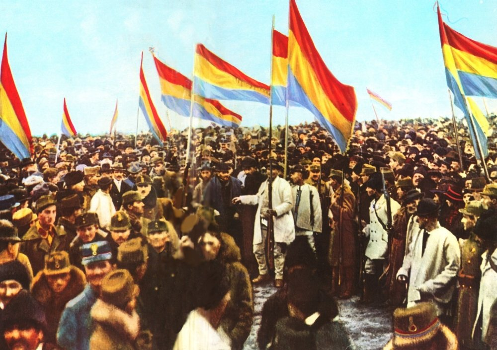 Fotografie 1 decembrie 1918 la Alba Iulia.